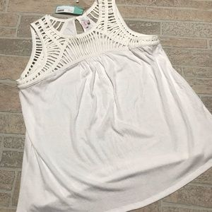 Pixley White tank NWT Stitch Fix large